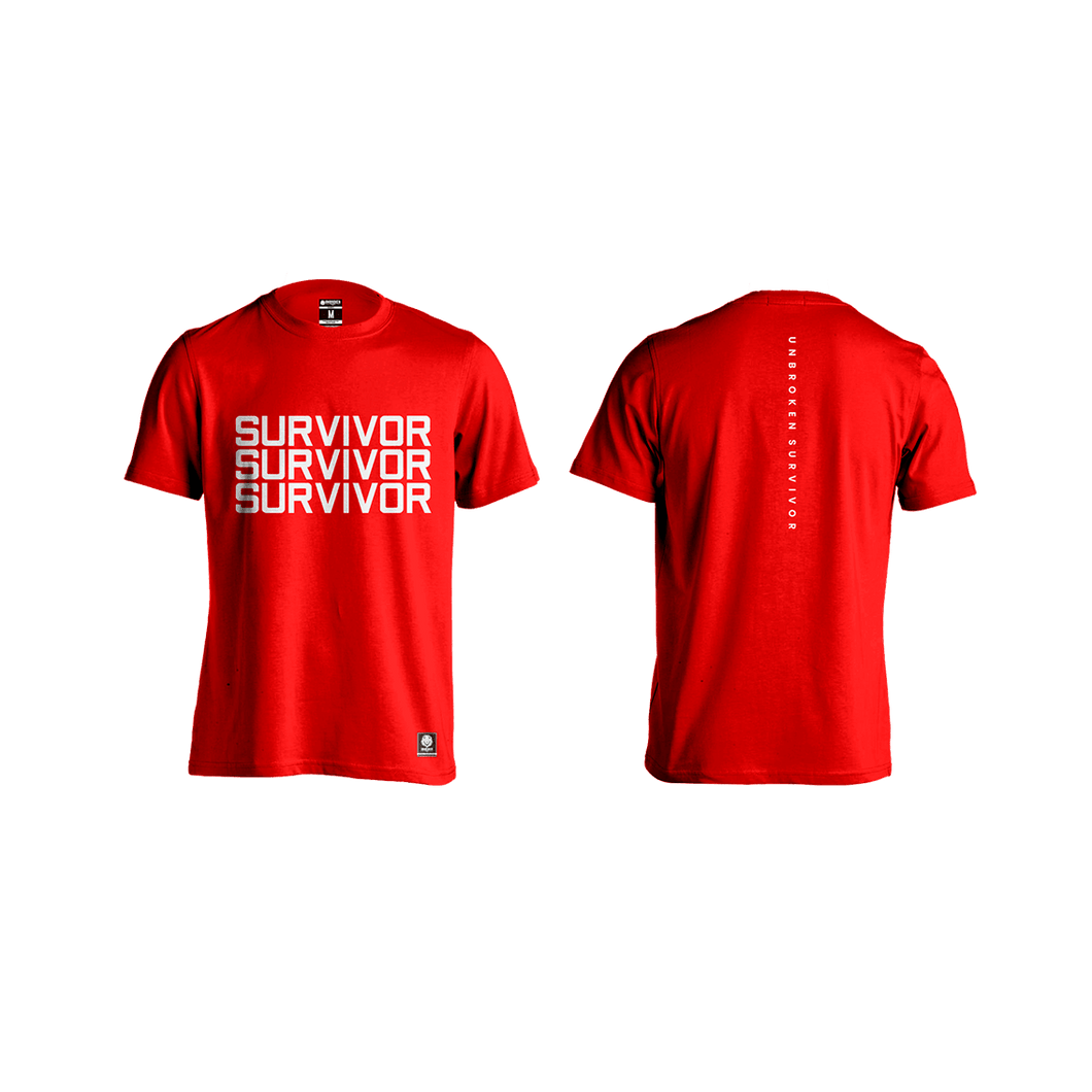 Camiseta Survivor Hombre Red - Unbroken Sports Wear