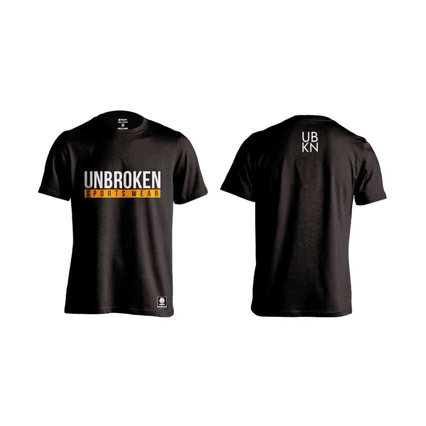 Camiseta Yellow Black Hombre Unbroken - Unbroken Sports Wear