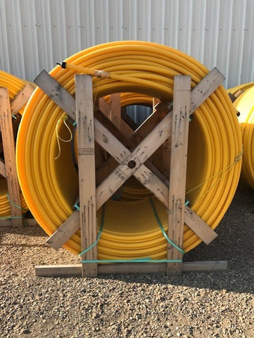 yellow Polyethylene gas pipe