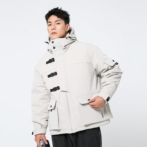 Men's Techwear Style Jacket White