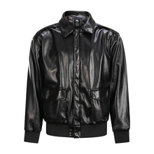 Load image into Gallery viewer, Men's A2 Bomber Moto Jacket Black