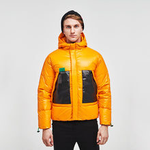 Load image into Gallery viewer, Men's Collision Color Puffer Down Jacket Yellow