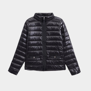 York Women's Packable Down Jacket Lightweight Puffer Coat Black Pearl