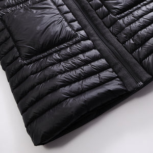 Women's 3/4 Length Down Jacket Coat Black