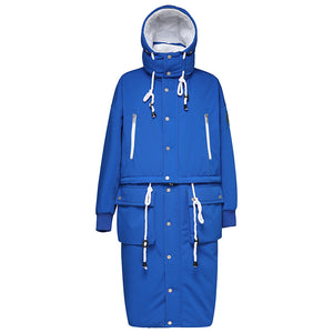 Women's Parka Detachable Down Jacket Navy