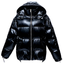 Load image into Gallery viewer, Women's Mid-Length Loose and Thick Down Jacket Black