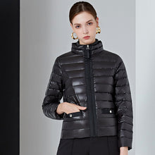 Load image into Gallery viewer, York Women's Packable Down Jacket Lightweight Puffer Coat Black Pearl