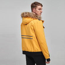 Load image into Gallery viewer, Edinburgh Men's Multi-pocketed Parker Down Jacket Yellow