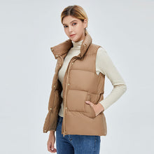 Load image into Gallery viewer, Women's Colourful Style Down Vest Khaki