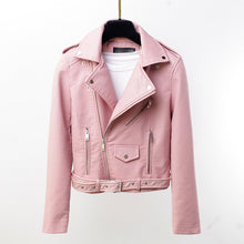 Load image into Gallery viewer, Motorbike Jacket Women Pink