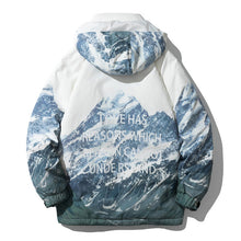 Load image into Gallery viewer, Men's Printed Down Jacket Snowy Mountain