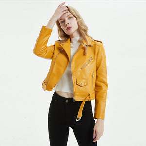 Motorbike Jacket Women Yellow