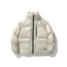 Load image into Gallery viewer, Winter Metallic Handsome Short Down Jacket Casual Shiny Trendy Jacket White