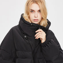 Load image into Gallery viewer, Women's Thicker Knee-length Down Jacket Black