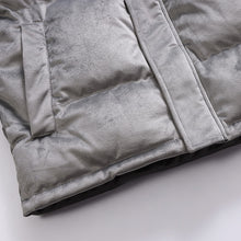 Load image into Gallery viewer, Men's Velvet Down Jacket Silver