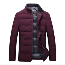 Load image into Gallery viewer, Men's Big And Tall Business Style Warm Down Jacket Red