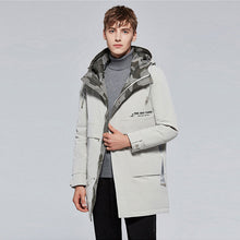 Load image into Gallery viewer, Men's Mid-Length Down Jacket White
