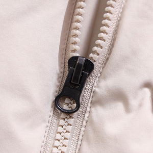 Women's Patchwork Lambswool Down Jacket Beige