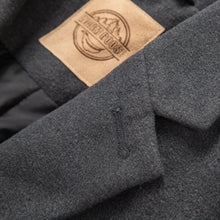 Load image into Gallery viewer, King's Cross Men's Wool Single-Breasted Overcoat Grey