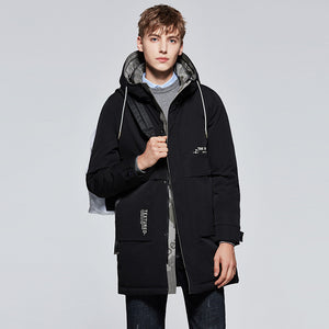 Men's Mid-Length Down Jacket Black