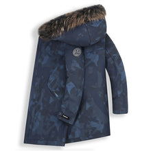Load image into Gallery viewer, Men's Big And Tall Fur Collar Down Jacket Navy