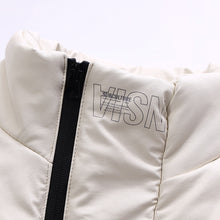 Load image into Gallery viewer, Manchester Artificial Leather Puffer Down Jacket Pearl White