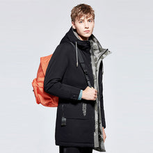 Load image into Gallery viewer, Men's Mid-Length Down Jacket Black