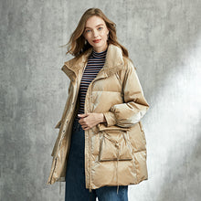 Load image into Gallery viewer, Womens Thick Goose Down Jacket Taffy