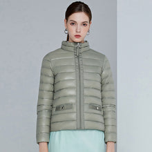 Load image into Gallery viewer, York Women's Packable Down  Jacket Lightweight Puffer Coat Olive Green