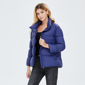 Women's Colorful Down Puffer Jacket Navy
