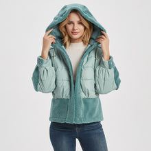 Load image into Gallery viewer, Womens Fleece Puffer Jacket Green