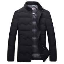 Load image into Gallery viewer, Men's Big And Tall Business Style Warm Down Jacket Black