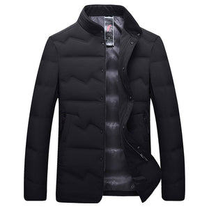 Men's Big And Tall Business Style Warm Down Jacket Black