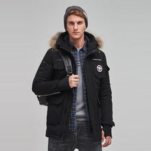 Load image into Gallery viewer, Parka Mens Winter Coats Down Jacket Black