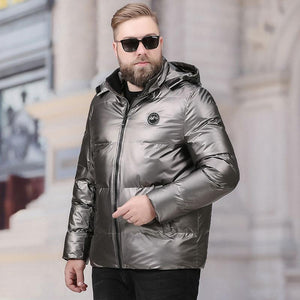 Men's Big And Tall Hoods Puffer Jacket Silver