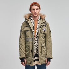 Load image into Gallery viewer, Parka Mens Winter Coats Down Jacket Green