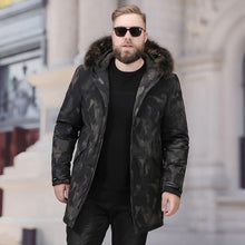 Load image into Gallery viewer, Men's Big And Tall Fur Collar Down Jacket Black