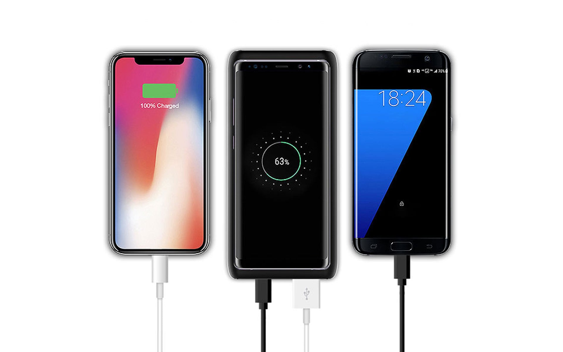 Loowoko Wireless Charging Power Bank