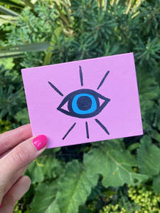 Step by Step Mini Evil Eye Painting Tutorial