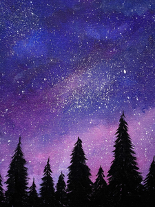 Step by Step Starry Sky Painting Tutorial