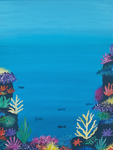 Step by Step Coral Reef Painting Tutorial
