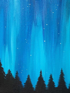 Step by Step Northern Lights Painting Tutorial