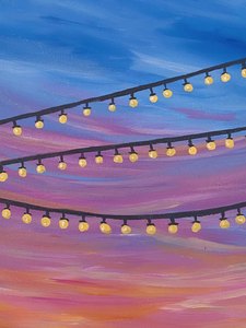 Step by Step Festival Lights Painting Tutorial