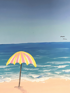 Step by Step Beach Painting Tutorial