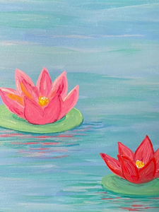 Step by Step Lily Pond Painting Tutorials