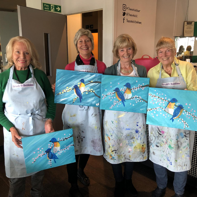 Painting and Prosecco Mother's Day Event