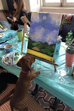 Painting and Prosecco and Puppies - Nala