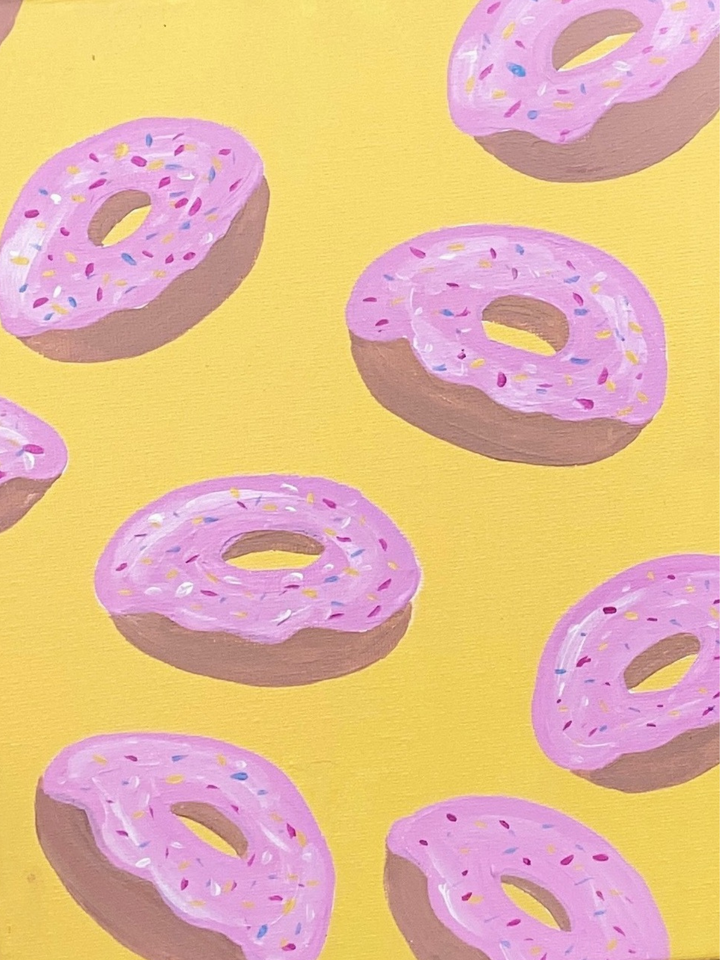 Step by Step Doughnut Painting Tutorial