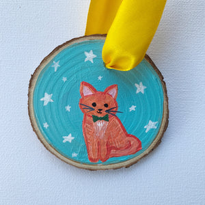 Mini Wooden Painting - Ginger the Cat