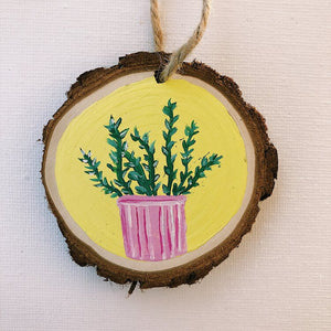 Mini Wooden Painting  - Sandy the Succulent
